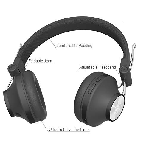 Ant Audio Treble H82 On-Ear Bluetooth Headphones with Mic (Black)