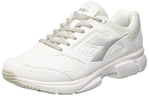 Diadora Shape 9 SL, Scarpe da Running Uomo Bianco (Bianco Argento C0516)