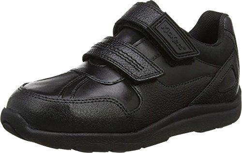 Kickers Jungen Moakie Reflex Ausbilder, Schwarz (Black), 34 EU Boys-school-sneakers