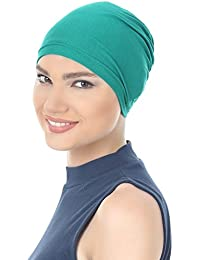 Unisex Essential Cotton Cap for Cancer ,Chemo, Hair Loss (Teal)