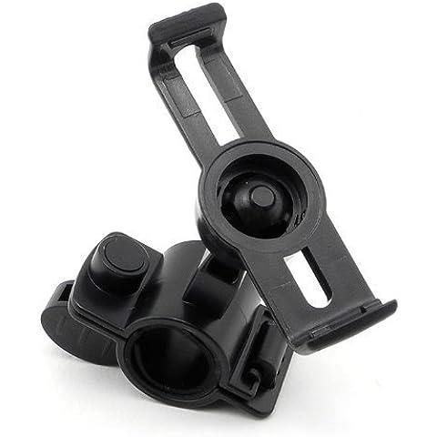 Jahoo bicicleta y motocicleta soporte cuna para Garmin Nuvi GPS 12x x 13x x Series (negro)