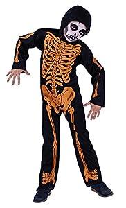 Rubies Disfraz Infantil - Esqueleto con Huesos Naranja 8-10 años