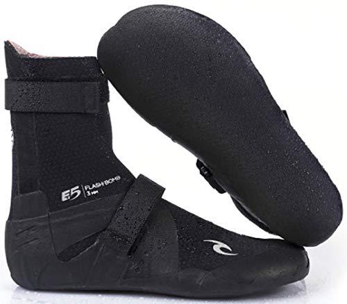 RIP CURL Flashbomb 3MM Split Toe Neoprenanzug Stiefel Schuhe - Schwarz - Unisex mit Flash-Thermofutter - Flash-Futter