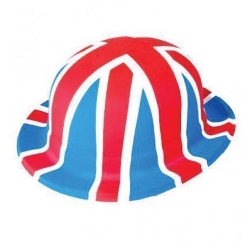 Großbritannien Union Jack Kostüm Erwachsene Plastik Bowler-hüte x 6