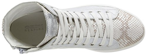 Geox  D Hidence A,  Sneaker donna Bianco (Blanc (Off White))