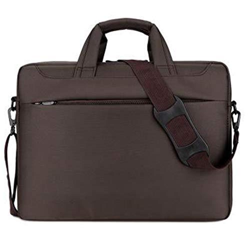 wasserdichte tragbare Laptop-Taschen-Handtasche für 12 13 14 15 17 Zoll-Computer-Geschäfts-Männer und Frauen Brown 14-inch (Kenneth Cole Aktentasche Braun)