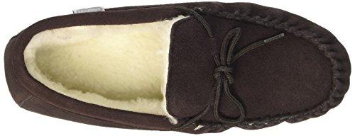 SNUGRUGS Wool Lined Suede Soft Sole, Mocassini Uomo Marrone (Dark Brown)