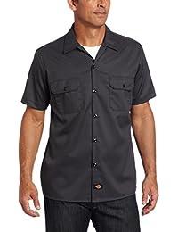 Dickies Herren Langarmshirt Streetwear Short Sleeve Slim Shirt