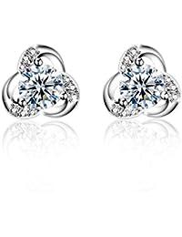 Femme clous d'oreilles, Amilril Argent Sterling 925 Boucles d'oreilles Bijoux, Anniversaire, Mariage, Noël Cadeau