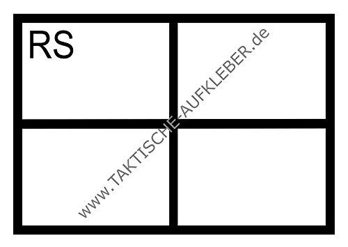 Aufkleber Rettungssanitäter (RS) im Rettungsdienst (10,5 x 7,4 cm) für Auto/PKW
