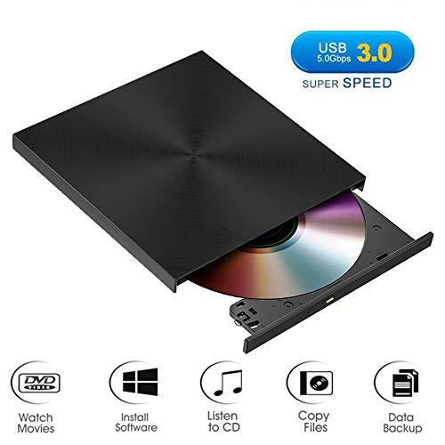 LXIANGP Externes optisches Laufwerk DVD-Brenner Mobile Player USB3.0-kompatibles Desktop-Notebook Lesen von Datenträger Brennen Unterstützung für Zwei Funktionen Windows 7/8/10 Linux Betriebssystem