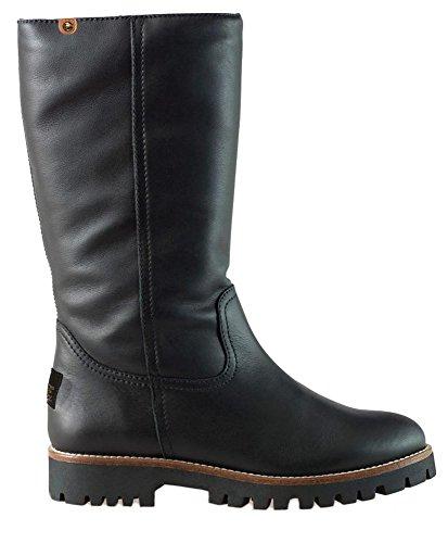 PANAMA JACK Damen Winterstiefel Tania Igloo,Frauen Winter-Boots,Fellboots,Lammfellstiefel,Fellstiefel,gefüttert,warm,Schwarz,EU 39