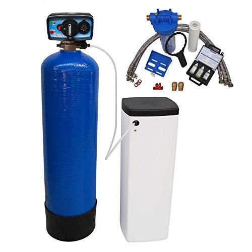 Adoucisseur d'eau bi bloc 16L Fleck 4600 MC eau chaude complet