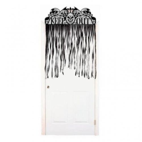 Halloween Spooky Hollow Keep Out & Totenkopf Tür Vorhang Aufhängen Dekoration
