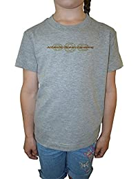 Antartic Ocean Niña Niños Camiseta Cuello Redondo Gris Algodón Manga Corta Girls Kids T-shirt Grey