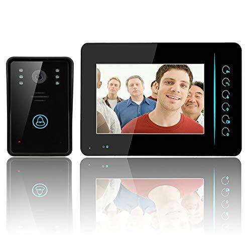 MOMAMO Video Türsprechanlage Türklingel Gegensprechanlage System,7 Zoll WLAN Monitor, Fernbedienung Türöffner und App,Sprechen und Anzeigen, Leicht an jeder Oberfläche zu befestigen