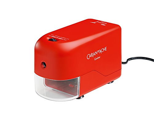 Caran d-ache 477.070 electric pencil sharpener rosso temperino