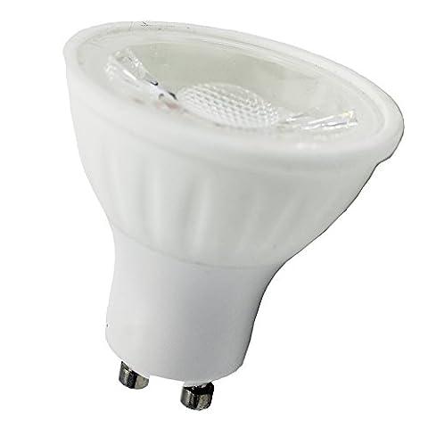 zhuque GU10LED Birne weiß 5W entspricht 50Watt Halogen nicht dimmbar 450Lumen 6000K 60°-Abstrahlwinkel (6Stück) White Pack of 6