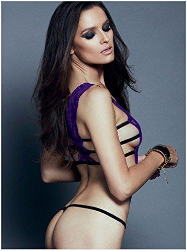 Shangrui Frauen der Uniform Serie Lacy Siamese-Stil Unterwäsche Violett