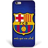 For iPhone 6 plus + iPhone 6s plus + Phone Back Case Hard Cover Custom Personalised Trendy Style Christmas Gift Present Modern Design Protective Plastic UK Brand Appfix FC Barcelona Football Club