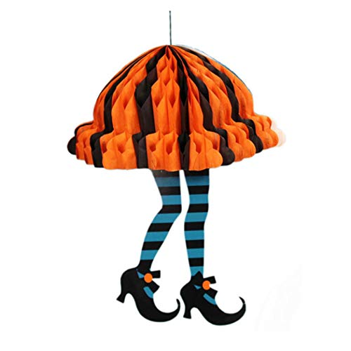 LANDFOX Halloween-Dekorationen 1 stücke Halloween Requisiten Papier Durable Anhänger Tag für Geist Festival KTV Bar Garten Kette Halloween Dekoration Sarg Halloween Dekoration