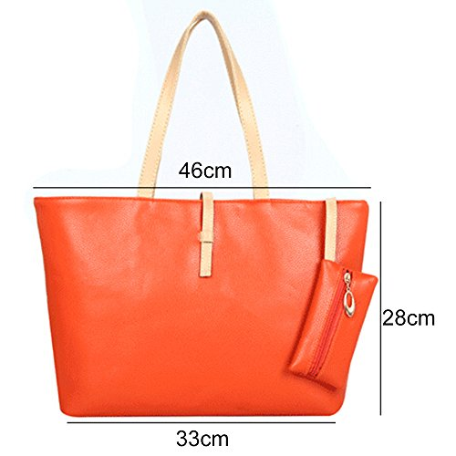 Greenlans, Borsa tote donna, Light Green (verde chiaro) - WXGG202454QX3Q45429 Orange