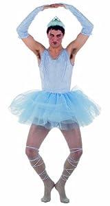 Limit Sport - Disfraz de bailarina para hombre, color azul, talla XL (MA486)