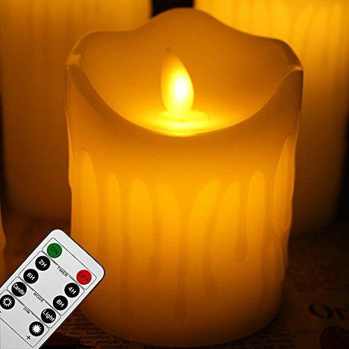 Flammenlose Led Kerzen Echtwachskerze Mit Beweglicher Flamme