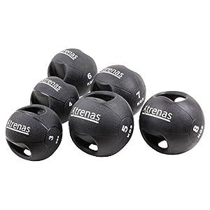 TRENAS Professioneller Medizinball mit Handgriffen PRO – 3 kg – 4 kg – 5 kg – 6 kg – 7 kg – 8 kg – 9 kg – 10 kg