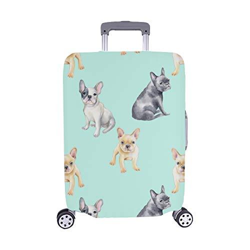 (Nur abdecken) Französische Bulldogge Haustier Spandex Staubschutz Trolley Protector case Reisegepäck Beschützer Koffer Abdeckung 28,5 X 20,5 Zoll