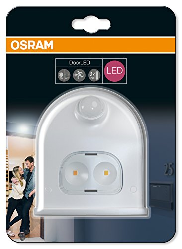 prezzo Osram Luce portatile a batteria DoorLED Down bianco, 0,55W, con sensore di luminosità e presenza