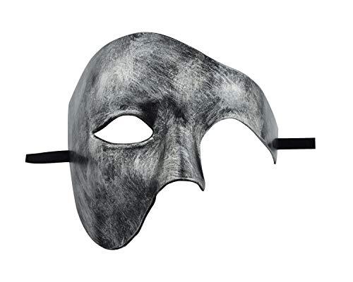 KEFAN Herren Maske Masquerade Maske Phantom der Oper Half Face Maske (Silber ()
