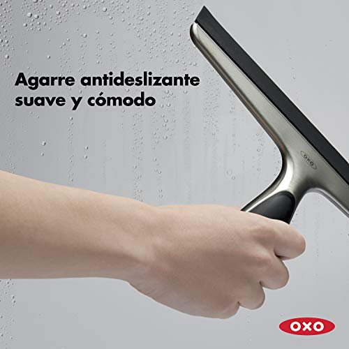 41q6VlfM8ZL - OXO Good Grips Limpiador de Ventanas - Limpiacristales acero inox.