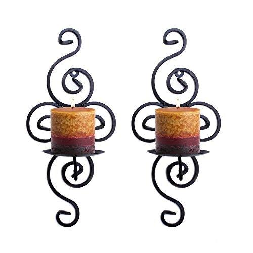 Meshela 2 x Soporte de pared para vela Candelabro de pared