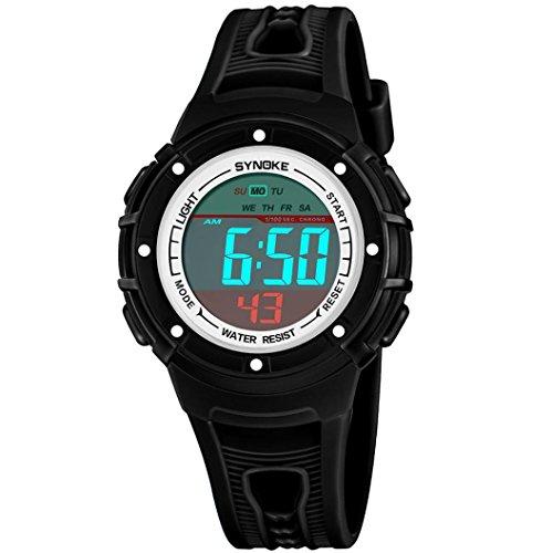 Jimmkey SYNOKE Multi-Function 50M Waterproof Watch LED Digital Double Action Watch,Adjustable Sport...