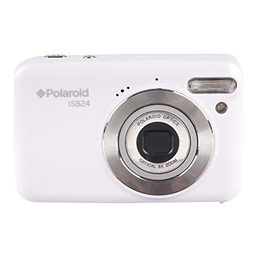 Polaroid iS824 Digital Camera White 16 MP 8x Optical Zoom