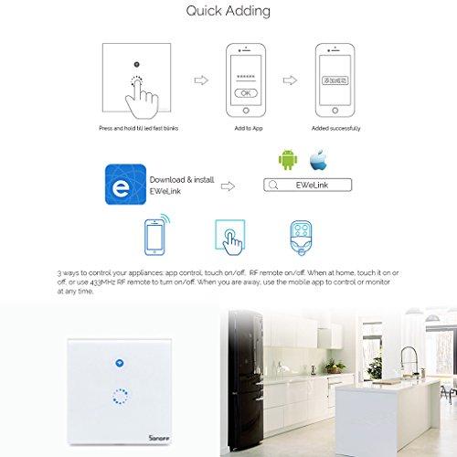 Die Beste Sonoff Touch Lichtschalter Fur Alexa Wifi Touch Panel