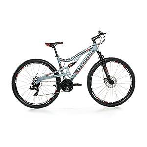 "Moma Bikes Bicicleta Montaña Mountainbike 29"" BTT SHIMANO 24 vel. Aluminio, frenos de disco y doble suspension, L-XL (1,80-2,00m)"