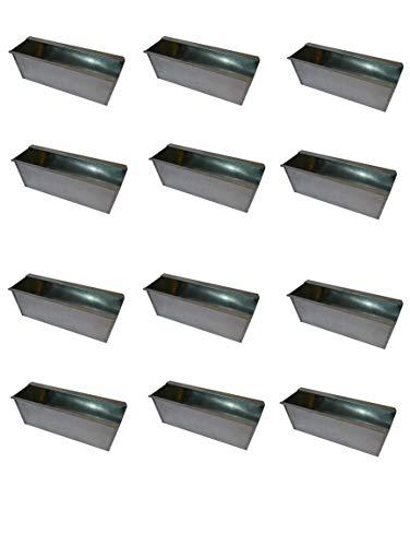 20X Blumenkasten Balkonkasten Einsatz für Europalette Pflanzkasten Verzinkt ca.35,5 X 12,5 x 12 CM Beet Garten vor der Haustüre für Europaletten oder passende Einwegpaletten Einsatz Blumen Pflanzen