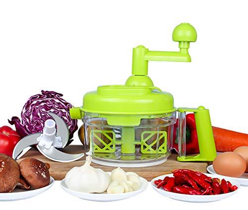 TENTA Kitchen Procesador de alimentos de manivela 800ml / picadora manual de alimentos/picadora de carne/picadora de verduras y picadora de frutas/licuadora con separador de huevos