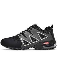 374fd6820cf MERRYHE Zapatos De Malla para Acampar con Cordones para Hombre Zapatos  Deportivos Al Aire Libre Escalada De Senderismo…