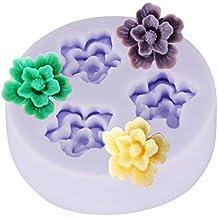 Molde de Silicona para Repostería 3 en 1 - Diseño de Flores de 2cm - Decoración