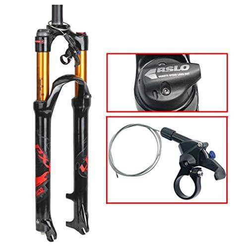 """ZNND 26"""" Mountainbike Federgabel, 1-1/8' Leicht Magnesiumlegierung MTB Fahrrad Gasgabel Schulter Steuerung 100 Mm (Farbe : A, größe : 26inch)"""