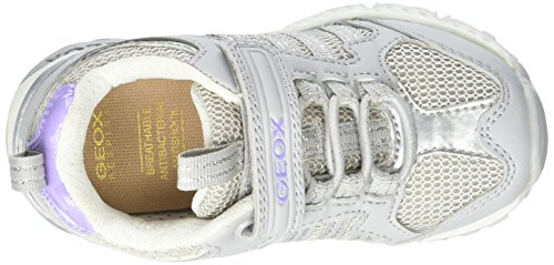 Geox J Bernie Girl A, Sneakers basses fille Gris (Greyc1006)