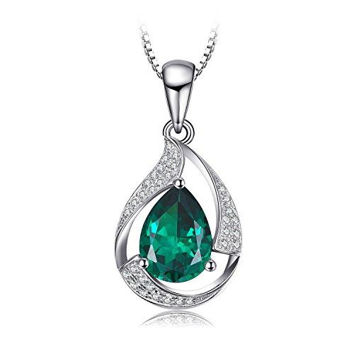 Jewelrypalace 2.5ct Luxus Grün Simulierte Nano Russischen Smaragd Anhänger Halskette Kette 925 Sterlingsilber