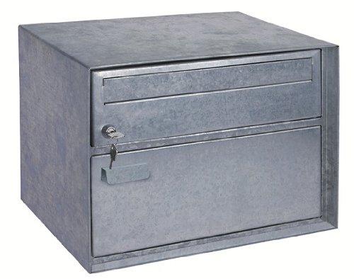 Rottner Briefkasten Distel Paketfach, Witterungsbeständigkeit, Stahlblech, Zylinderschloss, Schnappverschluss