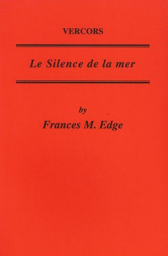 vercors-le-silence-de-la-mer-critical-guides-to-french-texts-by-f-m-edge-1-may-2004-paperback