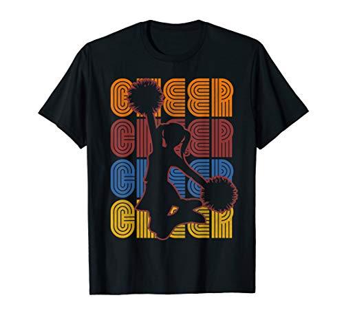 Retro Cheerleader Cheerleading T-Shirt -