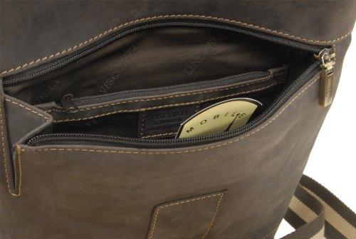 Borsa Messenger A5 di Visconti in pelle - Hunter 16058 Olio Marrone