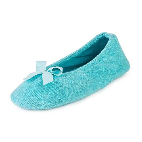 isotoner-ladies-terry-ballerina-slippers